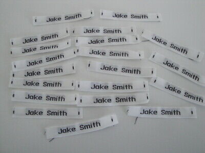 Woven Name Labels,20, Ready Cut, Non Fray, Child's Or Adults Clothes. Jake Smith • 0.99£