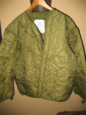 $17.99 • Buy USMC Army Military Surplus M65 Cold Weather Winter Field Coat Liner SMALL OD GI