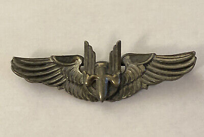 $62.99 • Buy  WWII Military Pilot AMICO Sterling 2  Bomber Wings Pin (vintage)