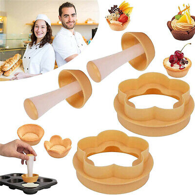 Cake Cup Stamper Donut Rice Ball Moulds Fondant Cake Cookie Mold Flower Stamper • 4.20£