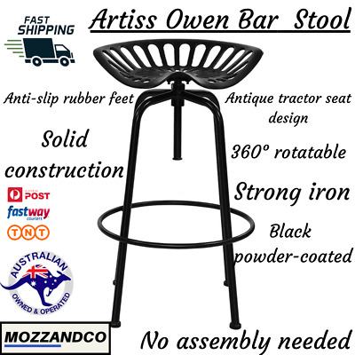 AU109.25 • Buy 1 X Kitchen Bar Stool Tractor Stool Chairs Industrial Vintage Retro Swivel Bars
