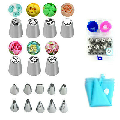 1/10/27pcs Russian Flower Stainless Steel Icing Piping Nozzles Cake Baking Hot  • 9.99£