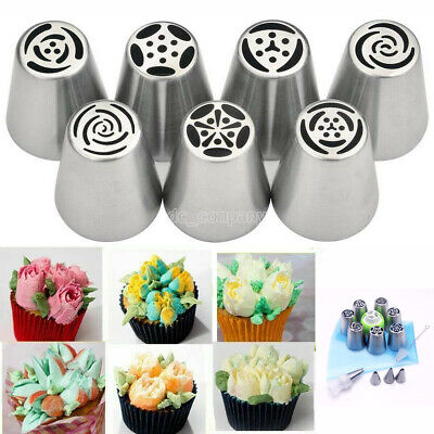 15pcs/set Russian Leaf Flower Icing Piping Nozzle Tip Cake Topper Baking ToolZ • 7.96£