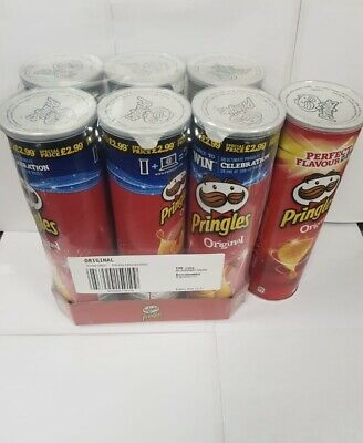 £15.99 • Buy Pringles Original Flavour Crisps Snack Can Tubes Pack Of 6 X 200g Free P&P