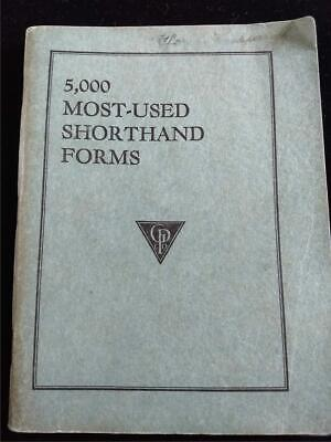 £5.04 • Buy Gregg Publishing Co 5,000 Most-used Shorthand Forms Soft-cover Book 1931
