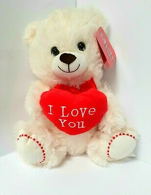 Cuddly MiRi Teddy Bear With  ''I Love You Heart''  Mothers Day Gift. • 9.25£