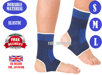 £3.49 • Buy Elastic Durable Ankle Support S M L Protection Sport Sock Running Injury Sprain