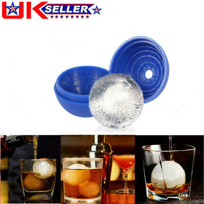 Ice Ball Mould Cube Maker Large Tray Big Rubber Mold Sphere Whiskey DIY Round  • 4.69£