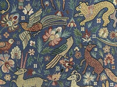 £27.99 • Buy Traditional Vintage Woodland Tapestry  Curtain/Upholstery Fabric SKY BLUE