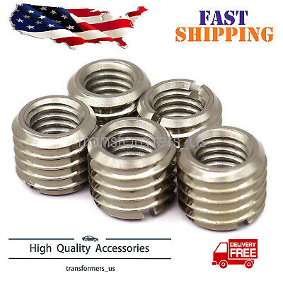 $12.69 • Buy 5 X THREAD ADAPTERS - M12 12MM MALE TO M8 8MM FEMALE - THREADED REDUCERS