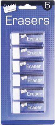 £2.19 • Buy  White Soft Erasers - Smudge-Resistant Stationery School Office   PACK OF 6