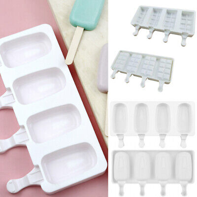 £3.19 • Buy Ice Cream Forzen Mould DIY Popsicle Cake Silicone Tray Lolly Kitchen Tool Craft