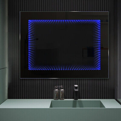 £145.95 • Buy 3D Tunnel Infinity Mirror Bathroom Bedroom LED Wall Mirror With Remote Control