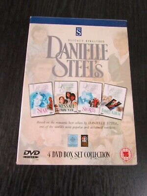 DANIELLE STEEL'S 4 DVD BOX SET, Star Message From Nam, Secret, Family Album • 7.50£
