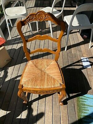 AU1200 • Buy French Provincial Dining Chairs - Woven Seats