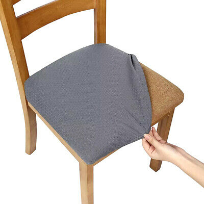 AU27.92 • Buy 4pcs Dining Chair Covers Kitchen Home Seat Cover Stretch Removable Slipcover*