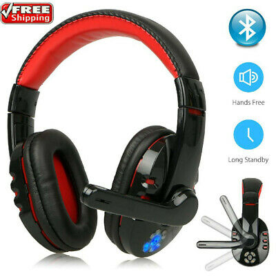 AU33.88 • Buy 40mm Pro Gaming Headset Wireless Bluetooth With Mic Surround For PC/Laptop