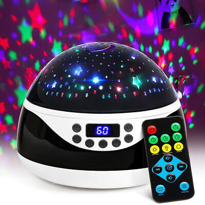 Remote Baby Kids Night Light With Timer Music Star Projector Lamp Bedroom Decor • 24.89£