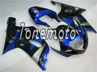 $450.30 • Buy Fit For 2001-2003 Suzuki GSX-R 600 750 Injection Plastic Black Blue Fairing #Ai