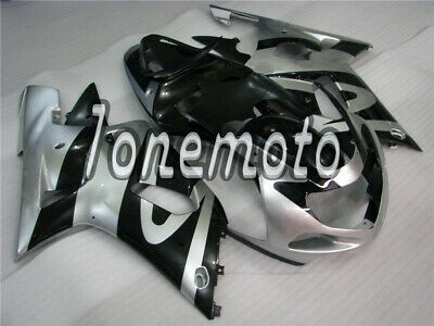$450.30 • Buy Fit For 2001-2003 GSX-R 600 750 Silver Black Injection Plastics Set Fairing #At