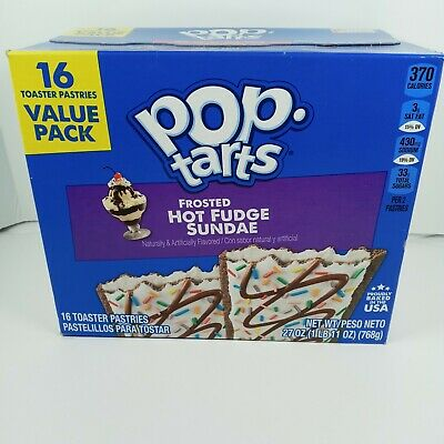 £6.70 • Buy Pop Tarts Frosted Hot Fudge Sundae 16 Ct Toaster Pastries Value Pack