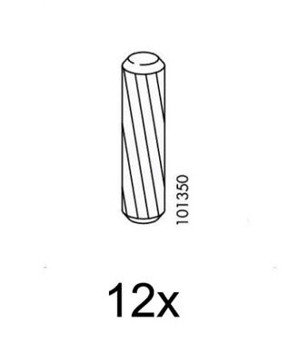8 IKEA Wood Dowel Part # 101358 • 4.22£
