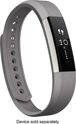 AU15.39 • Buy Fitbit Alta Leather Band - Graphite (FB158LBGPL) - LARGE - [LN]™