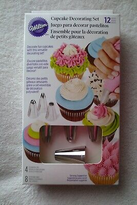 £10.09 • Buy Wilton Cupcakes Decorating Set Kit With Large Tips And Bags 12 Pieces New