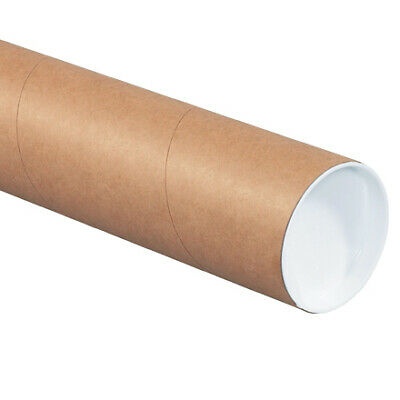 $57.92 • Buy Mailing Shipping Tubes With Caps 3 Inch X 26 Inch, Brown, Kraft, Pack Of 24