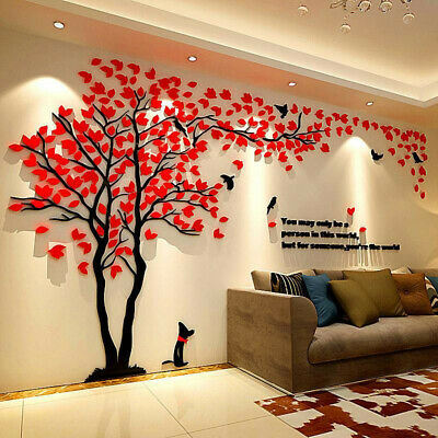 UK Large Family Tree Wall Decals 3D DIY Acrylic Wall Stickers Mural Home Decor • 42.99£