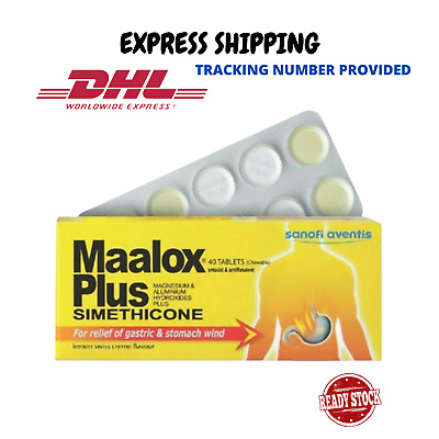 $28.80 • Buy Maalox Plus Simethicone For Relief Of Gastric & Stomach Wind 40'S DHL SHIPPING