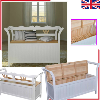 Storage Chest Toy Box Bench Bedroom Bedding Blanket Box Wooden Large Home Chair • 186.54£