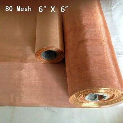 £6.97 • Buy 80 Mesh Copper Woven Wire Cloth Fabric Screen Filter Sheet .0078  200 Microns