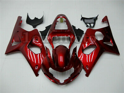 $449.35 • Buy Fit For GSXR1000 K2 00-02 2000-2002 ABS Injection Body Fairing Kit Pearl Red #Au