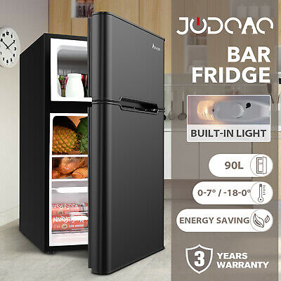AU299.90 • Buy Portable Fridge Freezer Bar Home Commercial Compact Quiet Refrigerator 90L Black