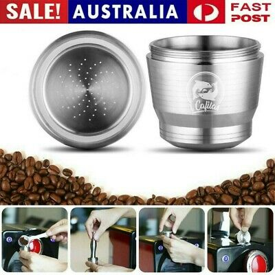 AU30.99 • Buy Stainless Steel Metal Coffee Capsule Cup Reusable Refillable Pod For Nespresso