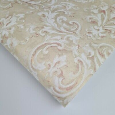 £7.99 • Buy Paste The Wall - Pearlescent Ivory And Pink Floral Damask Wallpaper - FD21608
