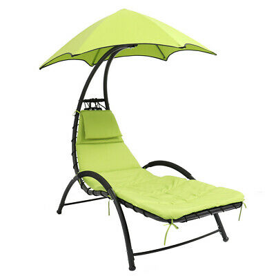 Barton Patio Hanging Helicopter Dream Lounger Chair Stand Hammock Chair Canopy • 149.98£