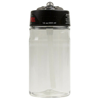 Thermos 355ml Hydration Bottle With Straw Sports Gym Water Drinks Tumbler Clear • 8.50£