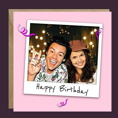 £3.99 • Buy Personalised HARRY STYLES One Direction Birthday Card Her Daughter Sister Niece