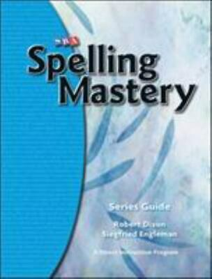 AU31.88 • Buy SRA McGraw Hill Spelling Mastery Series Guide -874 LIKE NEW