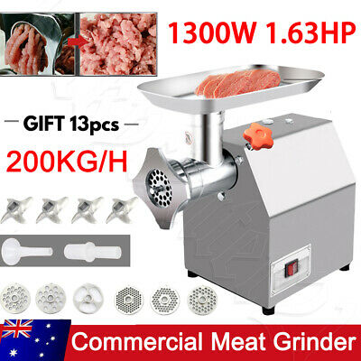AU195.95 • Buy 1.63HP Commercial Meat Grinder Electric Mincer Sausage Filler Maker 1200W