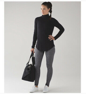 $ CDN42.26 • Buy Lululemon Locarno Turtleneck Size 4 Long Sleeve Black Top Casual Athleisure