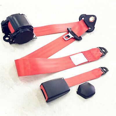 $41.89 • Buy Car Front Seat Belt Buckle Kit Automatic Retractable Safety Straps Seatbelt Red