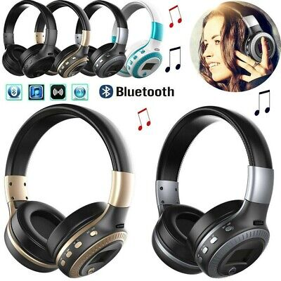 £14.99 • Buy Wireless Bluetooth Headphones With Noise Cancelling Over Ear Stereo Earphones UK
