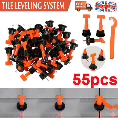 £6.99 • Buy 55pcs Floor Wall Tile Leveler Tools Reusable Tile Spacers Levelling System Cons