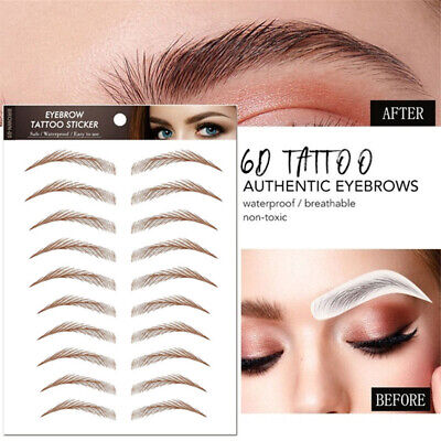Water Transfer Embroidery Makeup Supplies Semi-Permanent Eyebrow Tattoo Sticker • 3.34£