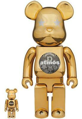 $674.64 • Buy Atmos Gold Chrome Be@Rbrick BeaRbrick 100��� & 400���