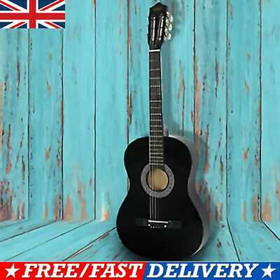 23 Inch Beginners Children Wooden Acoustic Guitar Full Size 6 Strings W/Pickup • 14.03£