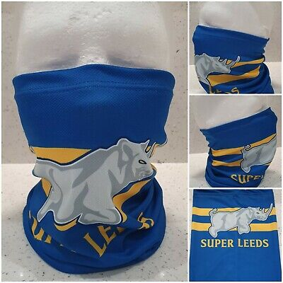 £9.49 • Buy Leeds Rhinos Snood / Face Mask / Face Covering - Super Blues - Blue And Yellow